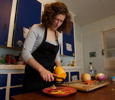 Caroline Kelly cooking