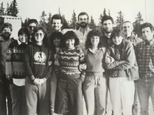 Patty (front row, third from left) and several Alaska JVs, Fall 1956