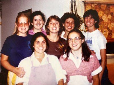 Back row: Cathie Daugherty, Darra Mulderry, Lynn McKenna, Christine Cincotta, Terah Regan. Front row: Suzanne, Marilyn Schneider
